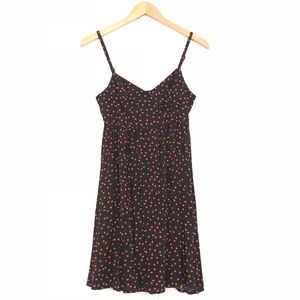 Black Poppy Triangle Print Skater Dress w/Pockets